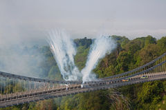 Vlam en Vuurwerk Stock Foto's