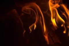 Vlam met vonken Stock Foto's