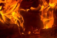 Vlam met vonken Stock Fotografie