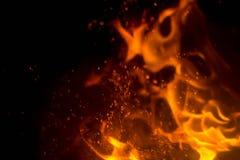 Vlam met vonken royalty-vrije stock afbeeldingen
