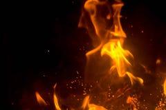 Vlam met vonken Stock Afbeeldingen