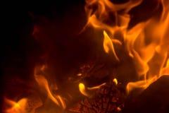 Vlam met vonken royalty-vrije stock foto's