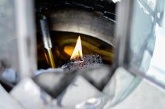 Vlam in olielamp Royalty-vrije Stock Foto
