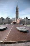 Vlam op het Parlement Heuvel Royalty-vrije Stock Fotografie