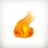 Vlam, pictogram stock illustratie