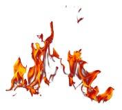 Vlam van brand die op witte achtergrond wordt geïsoleerd vector illustratie