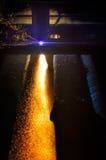 Vlam van CNC plasma scherpe toorts royalty-vrije stock afbeeldingen