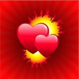 Vlam van de achtergrond van de Dag van de liefdeValentijnskaart Royalty-vrije Stock Afbeeldingen