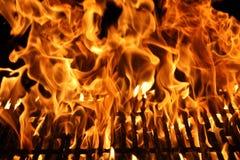 Vlam van een Barbecue Stock Afbeelding