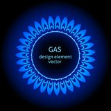 Vlam van een gasfornuis Royalty-vrije Stock Afbeeldingen
