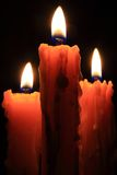Vlam van het branden van kaarsen stock fotografie