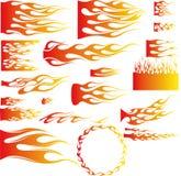 Vlam-vector Royalty-vrije Stock Foto