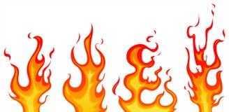 Vlammen Stock Afbeelding