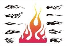 Vlammen Stock Afbeeldingen