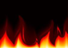 Vlammen Achtergrondillustratie Stock Foto
