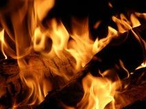 Vlammen of brand Stock Foto