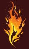 Vlammen en brand vector illustratie