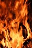 Vlammen in Motie royalty-vrije stock foto's