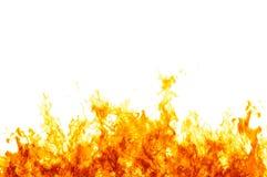 Vlammen op wit Stock Foto