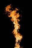Vlammen op Zwarte stock fotografie