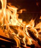 Vlammen van Brand Stock Foto's