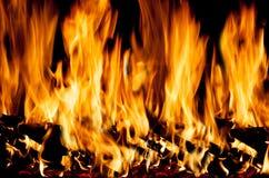 Vlammen van brand Stock Afbeelding