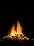 Vlammen van een brand stock foto's