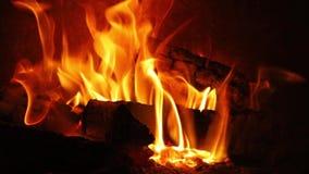 Vlammen van een Open haard stock videobeelden