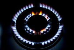 Vlammen van gas Stock Foto
