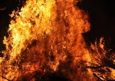 Vlammen van het branden van brand stock foto