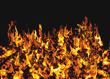 Vlammende Achtergrond Stock Afbeeldingen