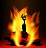 Vlammende flamencodans Stock Afbeelding