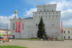 Vlasevskiy塔和Znamenskaya教会 库存照片