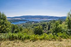 Vlasina lake. Artificial lake in south Serbia on 1200m elevation Stock Images