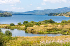 Vlasina lake in Serbia. Serbia's mountains are not only a local landmark, but also attract tourists from around the world - Serbia is famous for its ski resorts Royalty Free Stock Photography