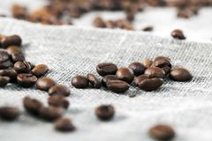 vlasoppervlakte en koffie stock foto