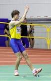 Vlasov Mihailo en la triple salto Imagen de archivo