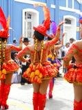 vlechten en typisch kostuum van Peru Royalty-vrije Stock Foto