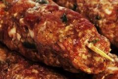 Vlees achtergrondmening stock foto's