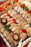 Vlees als vingervoedsel bij buffe Royalty-vrije Stock Foto