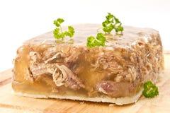 Vlees in aspic stock fotografie