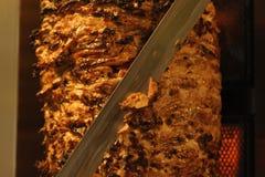 Vlees besnoeiingen voorbereide Shawarma Royalty-vrije Stock Afbeeldingen