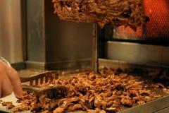Vlees besnoeiingen voorbereide Shawarma Royalty-vrije Stock Foto