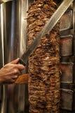 Vlees besnoeiingen voorbereide Shawarma Royalty-vrije Stock Fotografie
