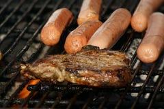 Vlees bij de Grill Stock Afbeelding