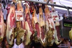 Vlees bij de markt Royalty-vrije Stock Foto