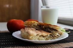 Vlees burek Stock Foto's
