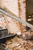 Vlees dat met messengyroscoop Istanboel wordt gesneden Stock Fotografie