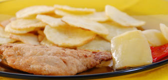 Vlees en aardappel Royalty-vrije Stock Foto's