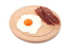 Vlees en ei Stock Afbeelding